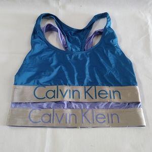 Calvin Klein Sport bra bundle of 2 Bralette M